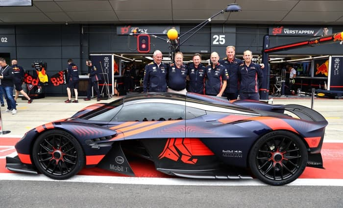 Aston Martin Valkyrie makes its debut at Silverstone