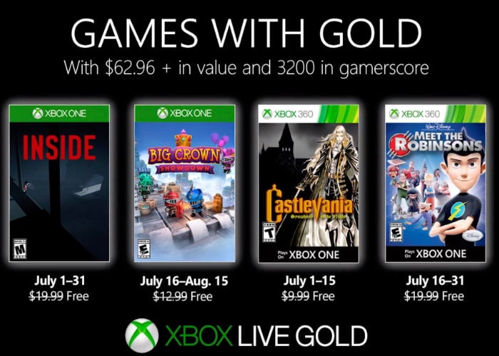 Free Xbox Live Games with Gold for July 2019