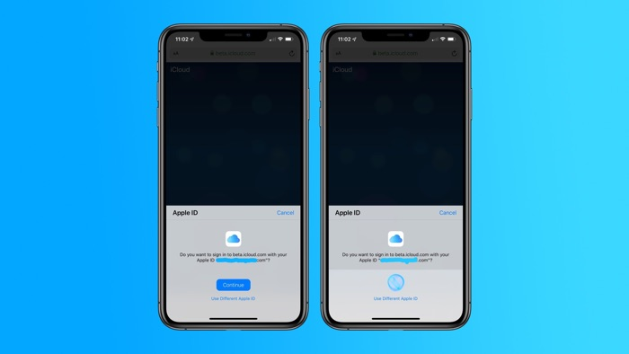 Face ID and Touch ID sign in for iCloud