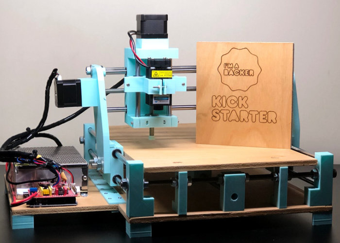 Infinix desktop CNC can draw, cut, engrave and 3D print