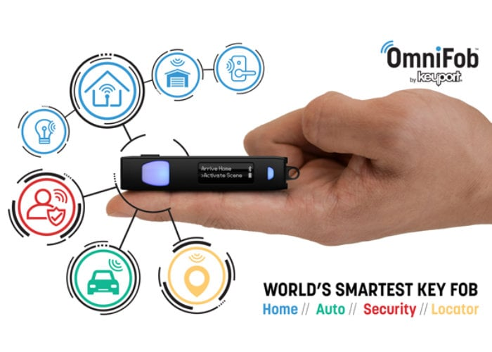 OmniFob smart remote for home automation, security and more