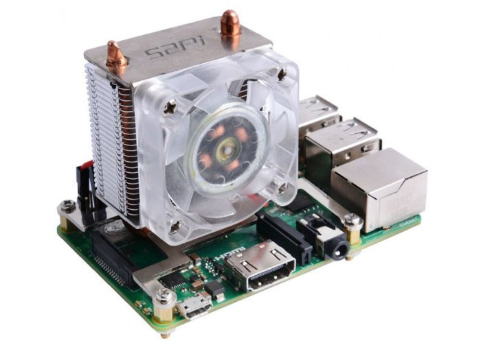 ICE Tower Raspberry Pi 4 fan and heatsink drops temperature from 80°C to 40°C