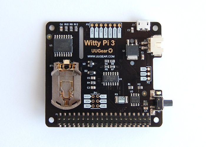 Updated Witty Raspberry Pi HAT inlcudes power management, RTC and more