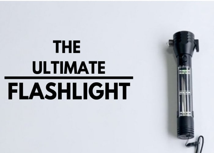 Robust emergency survival flashlight