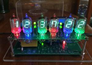VFD Clock III vacuum fluorescent display