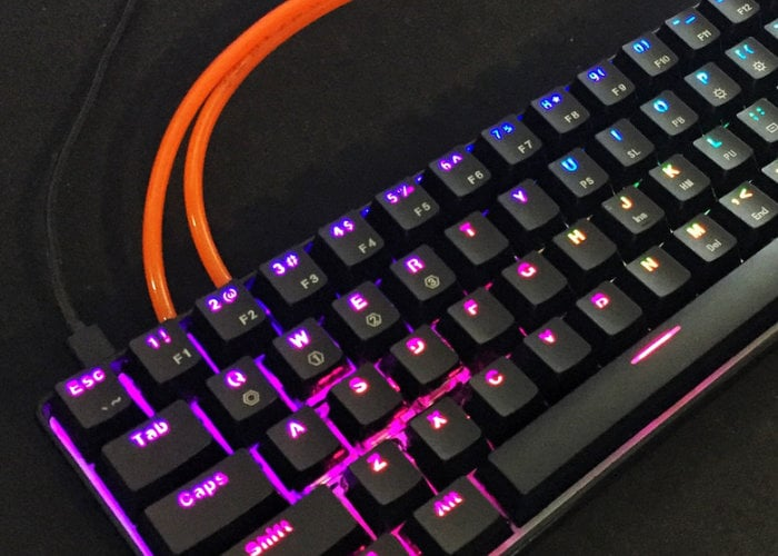 Ventus One gaming keyboard with airflow system stops sweaty fingers