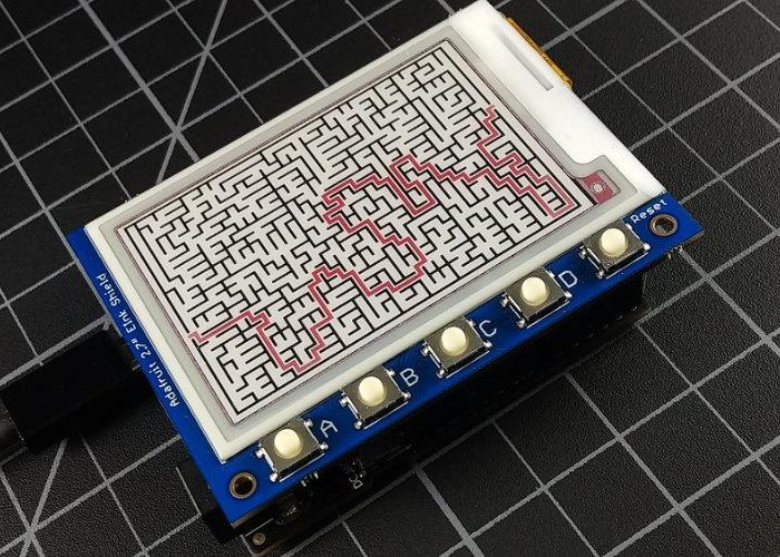 ePaper Maze Maker project requires no soldering - Geeky Gadgets