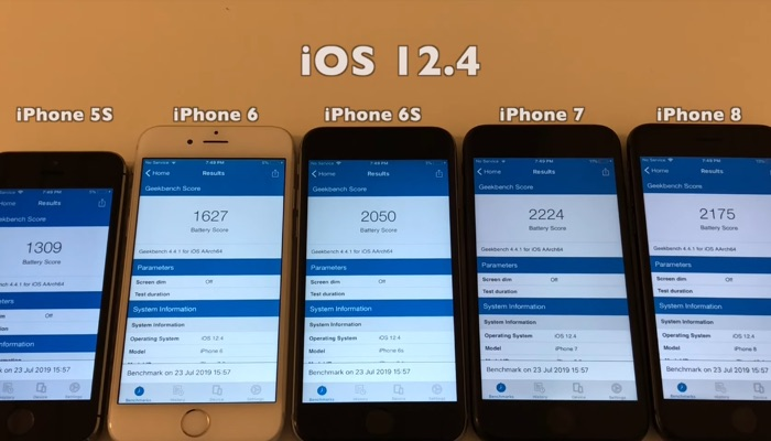 iOS 12.4 battery life test