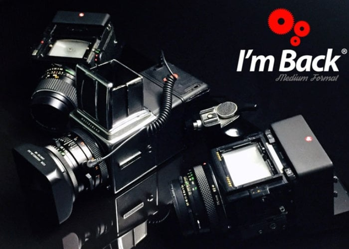 """I'm Back"" medium format digital camera back for Hasselblad, Bronica, Pentax, Mamiya and more"