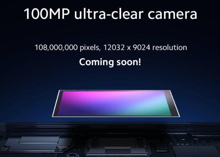 100 megapixel smartphone camera
