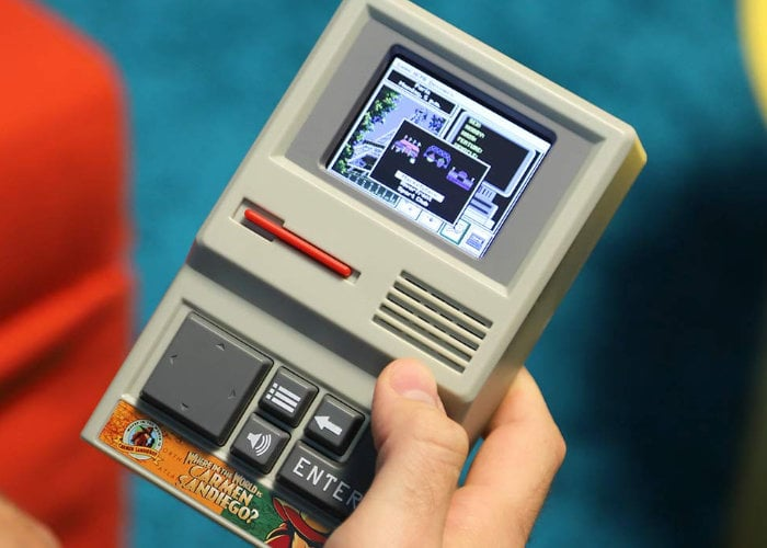 Carmen Sandiego handheld game system