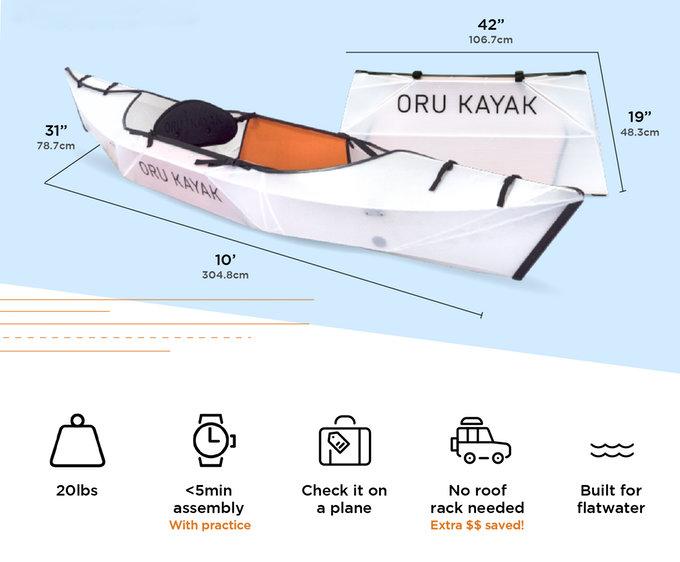 Oru Kayak Inlet origami folding canoe - Geeky Gadgets | 562x680