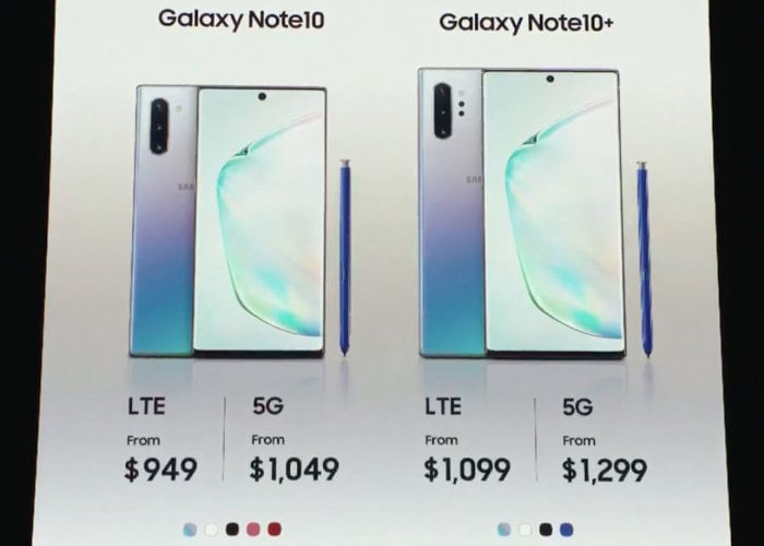 Galaxy Note 10 Plus 5G pricing