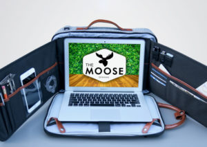 Moose anti-theft workstation backpack