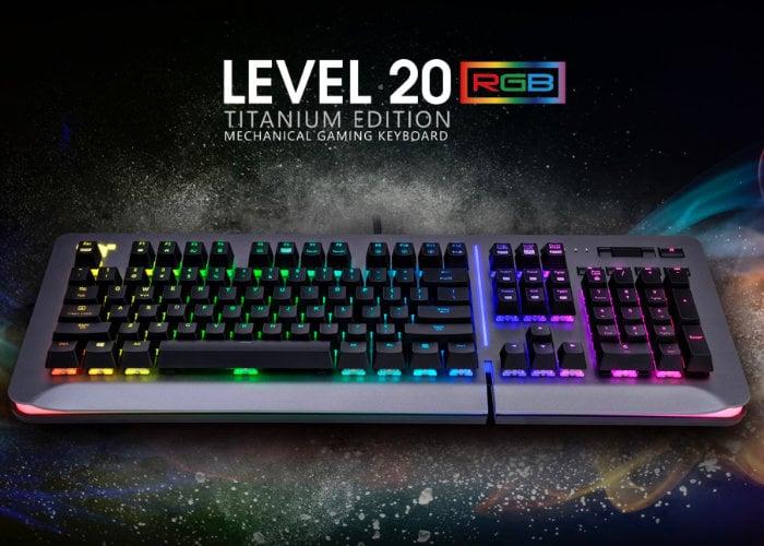 Thermaltake Level 20 GT RGB gaming keyboard