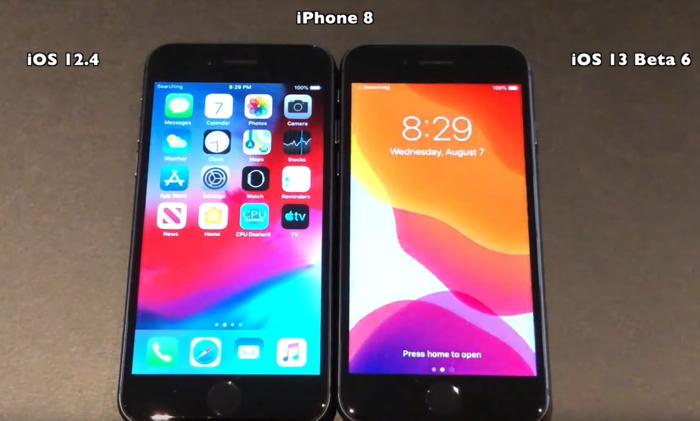 iOS 13 beta 6 vs iOS 12.4