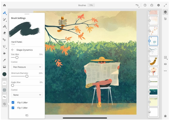 Adobe Fresco iPad painting app