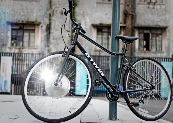 E-rim converts standard bicycles in to electric smart bikes