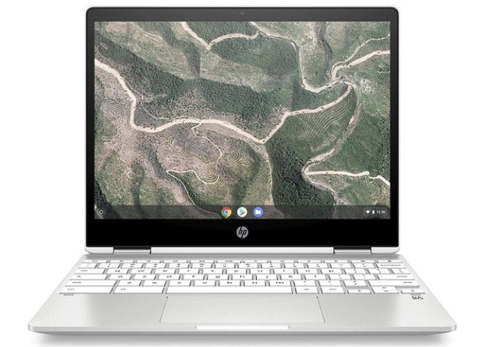 New HP Chromebook x360 12 listed on Amazon