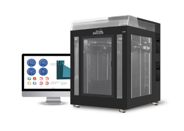 iBridger industrial 3D printer equipped with Dual nozzles, four filament feeds and more