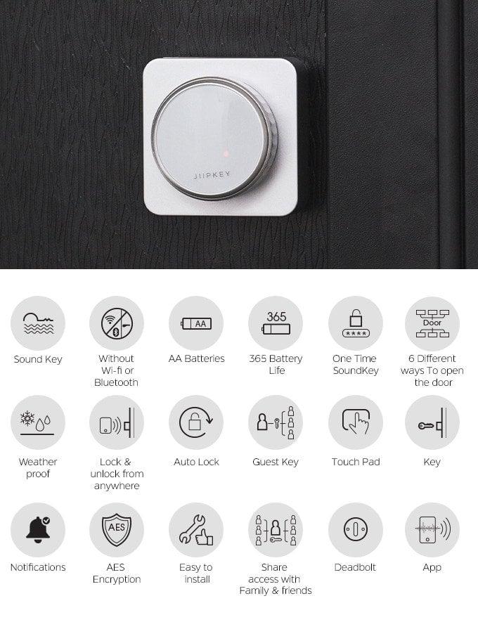 JIIPKEY keyless door lock