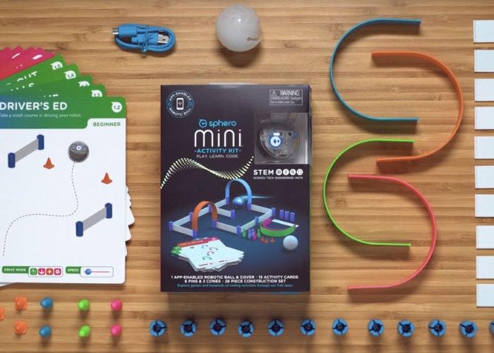 Sphero Mini Activity Kit inlcudes mini robot and 15 lessons