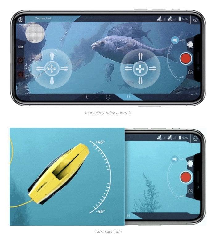Underwater drone camera