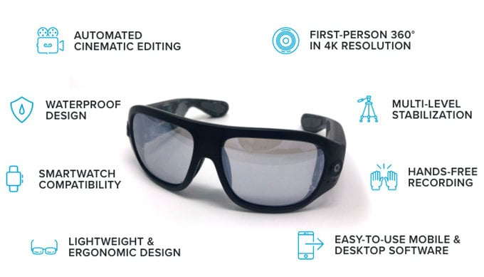 4K Video recording glasses