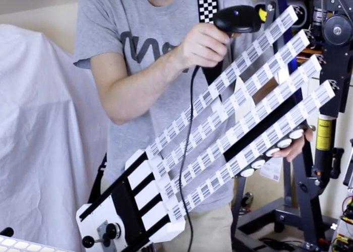 barcode scanner midi guitar