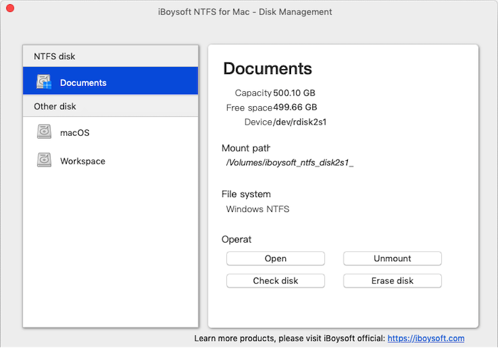 Boysoft NTFS for Mac