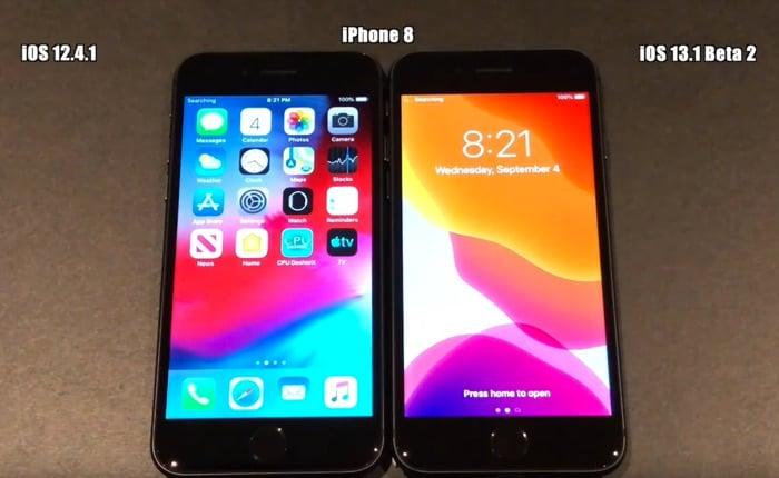 iOS 13.1 beta 2 vs iOS 12.4.1