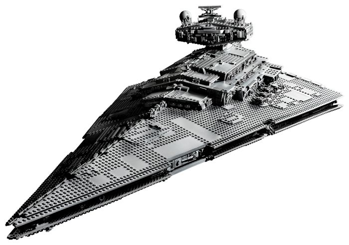 Lego's Star Destroyer set has 4,700 pieces and is 43 inches long