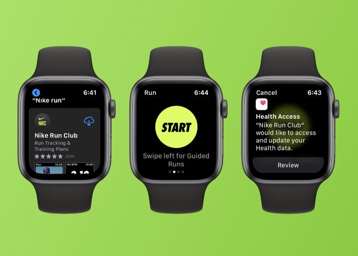 Apple Watch Nike Run Club app