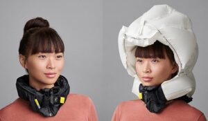 Bicycle helmet airbag
