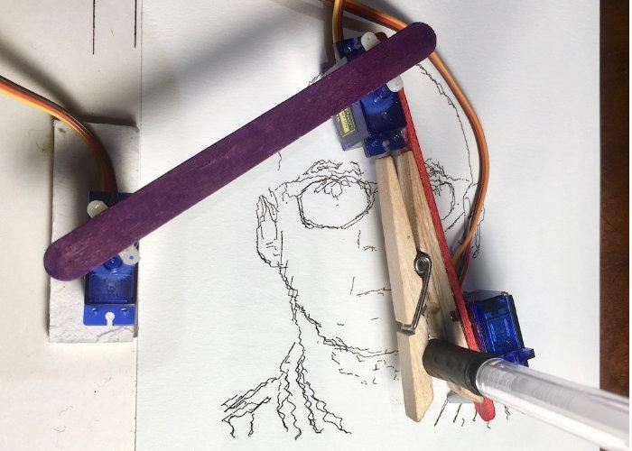 BrachioGraph Raspberry Pi pen plotter
