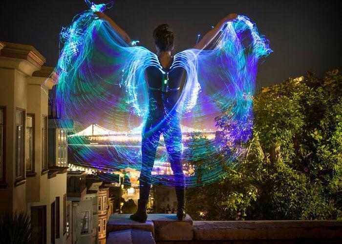 Awesome Fiber Optic Wings