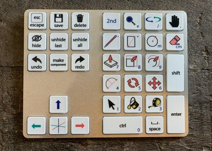 SketchUp SketchPad physical shortcut keypad