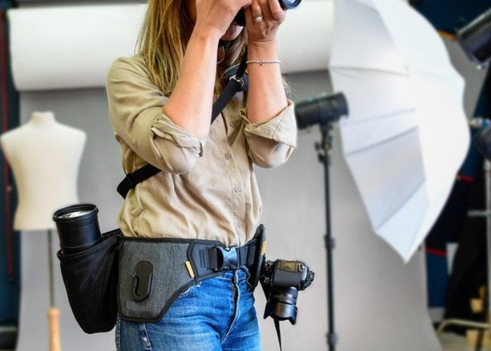 SlingBelt camera carrying system