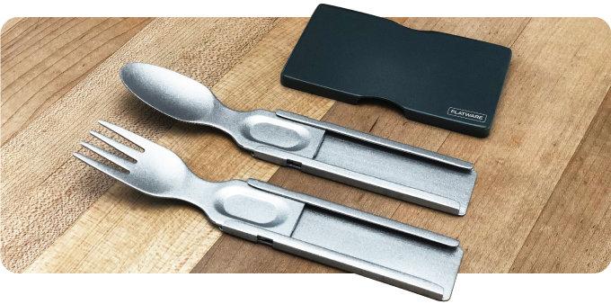 Stainless steel EDC eating utensils