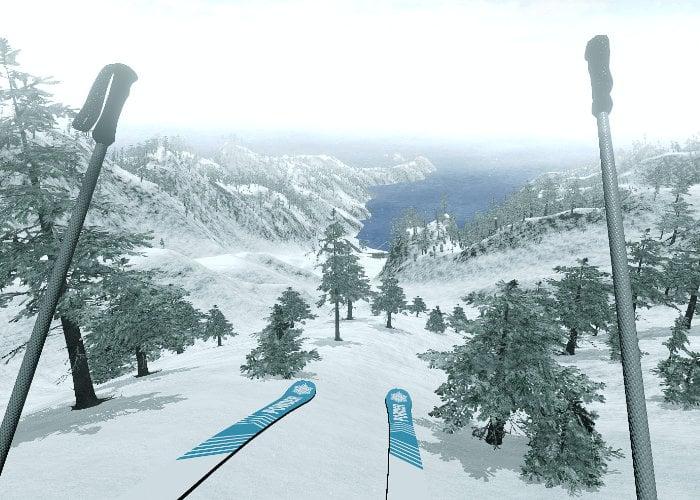 Virtual reality skiing game