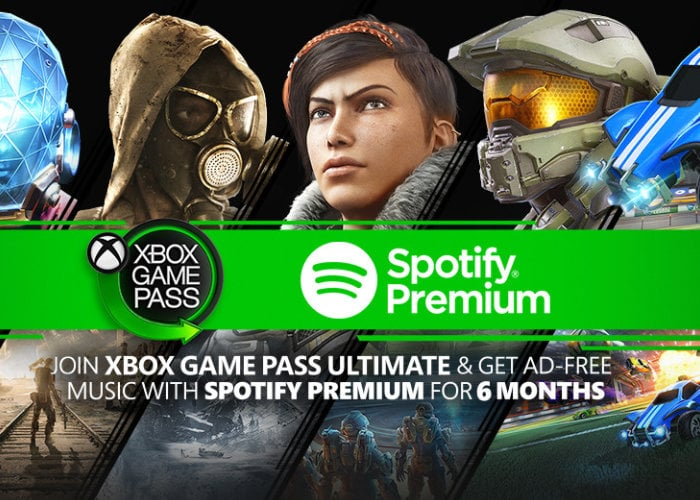 Xbox Game Pass and Spotify