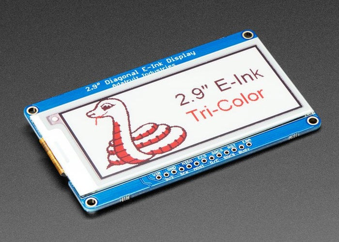 Three colour 2.9 Inch eInk display breakout lands at Adafruit for $34.95