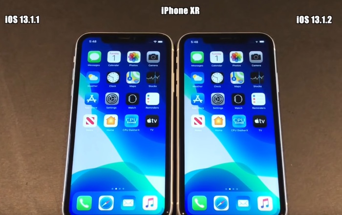 iOS 13.1.2 vs iOS 13.1.1 speed test (Video)