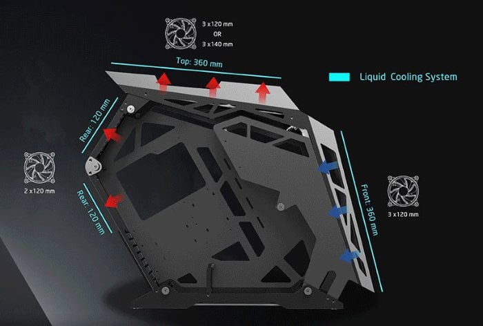 open tower PC chassis