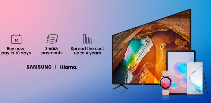 Samsung teams up with Klarna in the UK