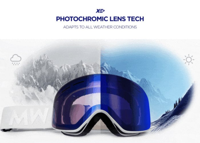 high contrast snow goggles