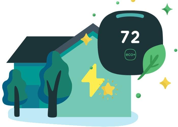 Ecobee eco+ smart thermostat