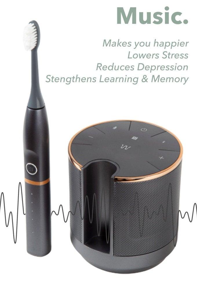 Electric toothbrush speaker