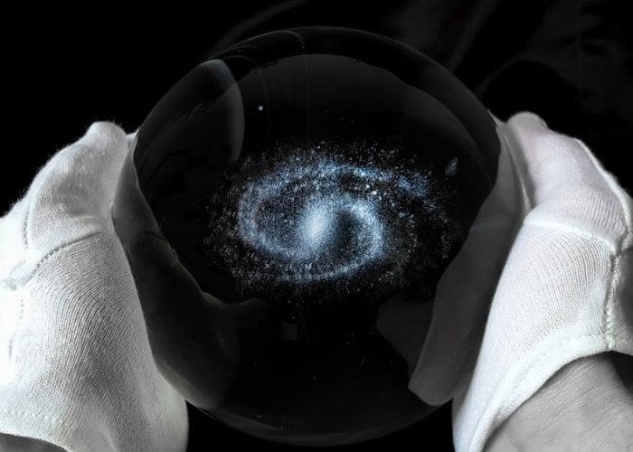 Galaxy in glass