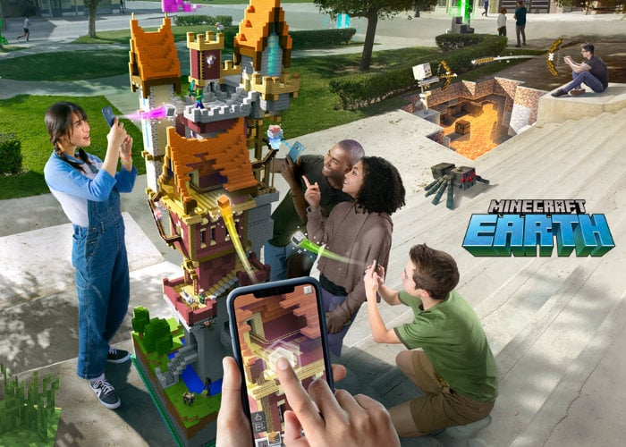 Minecraft Earth augment reality game arrives in the UK